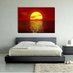 Red sunset, πίνακας σε καμβά