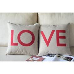 LOVE ,σετ 2 μαξιλάρια διακοσμητικά