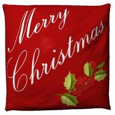 Merry Christmas red, διακοσμητικό μαξιλάρι