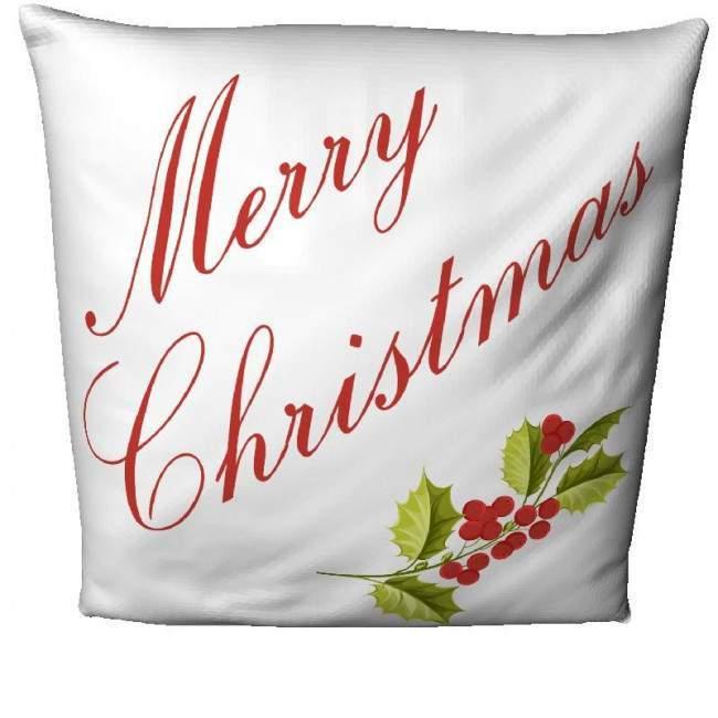 Merry Christmas white, διακοσμητικό μαξιλάρι