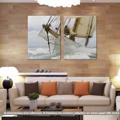 Breaking The Waves, δίπτυχος πίνακας σε καμβά (multipanel)