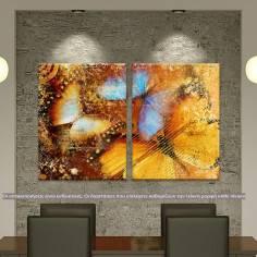 Butterfly I artistic, δίπτυχος πίνακας σε καμβά (multipanel)