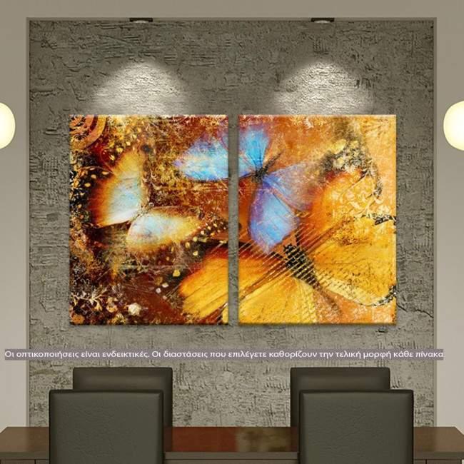 Butterfly 1 artistic, δίπτυχος πίνακας σε καμβά (multipanel)