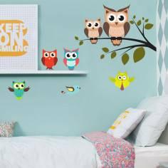 Αυτοκόλλητο τοίχου, Κουκουβάγιες