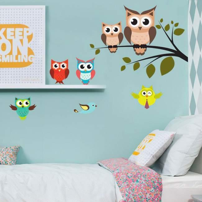 Κουκουβάγιες! , αυτοκόλλητο τοίχου