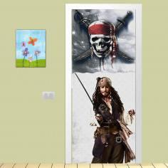 Captain Sparrow,αυτοκόλλητο πόρτας παιδικό