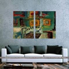 Symmetry Abstract, δίπτυχος πίνακας σε καμβά (multipanel)