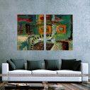 Πίνακας σε καμβά, Symmetry abstract, δίπτυχος