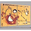 Autumn dance abstract, δίπτυχος πίνακας σε καμβά