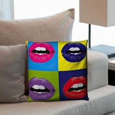 Kiss Pop Art, διακοσμητικό μαξιλάρι