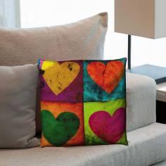 Grunge Hearts, διακοσμητικό μαξιλάρι