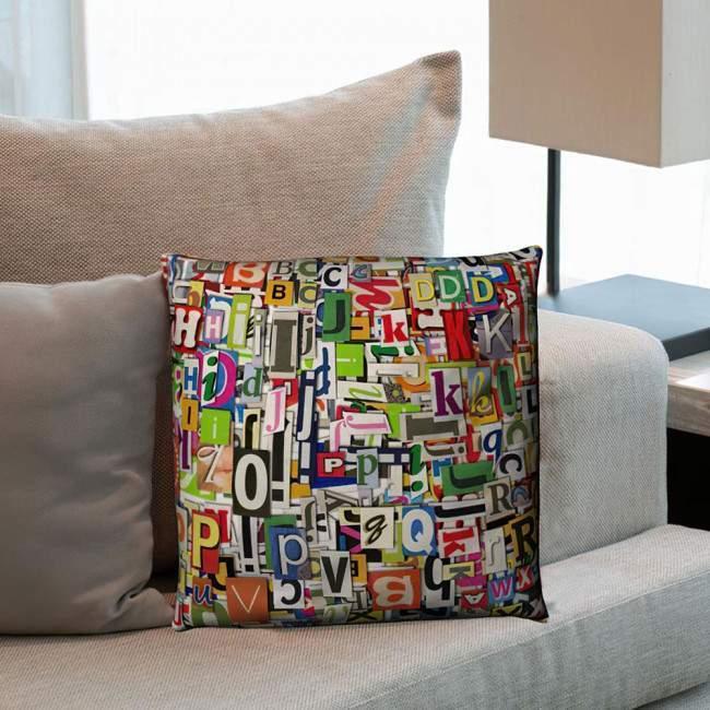 Digital collage, 100 % βαμβακερό διακοσμητικό μαξιλάρι, με το όνομα που θέλετε!