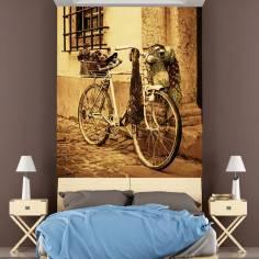 Ταπετσαρία τοίχου, Ποδήλατο στο φράχτη