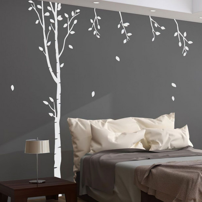 Deco tree XL, λευκό, αυτοκόλλητο τοίχου