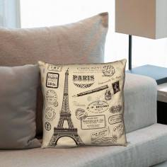 Postcard vintage, διακοσμητικό μαξιλάρι