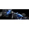 F1 Formula One Αγωνιστικό αυτοκίνητο , Μπλε , Αυτοκόλλητο τοίχου