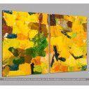 Αφηρημένα μοτίβα, δίπτυχος πίνακας σε καμβά