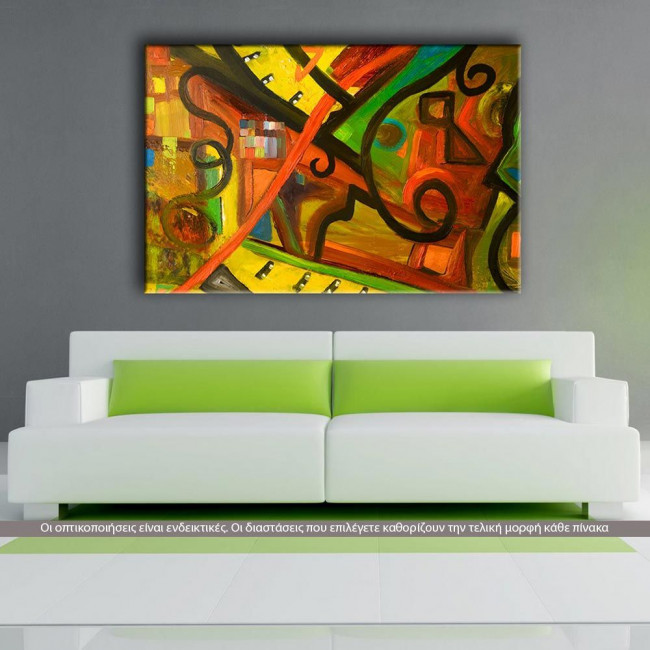 Abstract painting I, πίνακας σε καμβά