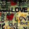 Love Graffiti, διακοσμητικό μαξιλάρι