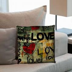 Love Graffiti Ι, διακοσμητικό μαξιλάρι