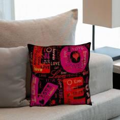 Love Graffiti ΙΙ, διακοσμητικό μαξιλάρι
