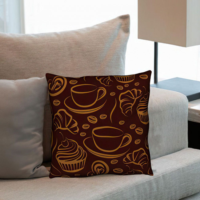 Coffee Time, διακοσμητικό μαξιλάρι