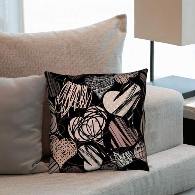 Hearts pattern, διακοσμητικό μαξιλάρι