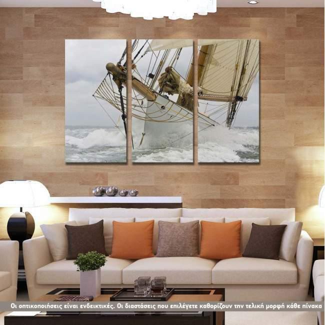 Breaking The Waves, τρίπτυχος πίνακας σε καμβά (multipanel)
