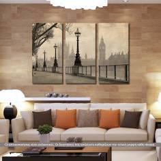 Big Ben & parliament, τρίπτυχος πίνακας σε καμβά