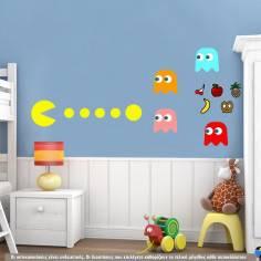 Pacman, αυτοκόλλητο τοίχου