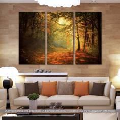 Forest memories, τρίπτυχος πίνακας σε καμβά