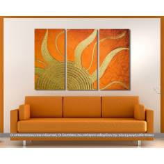 Sunlight, τρίπτυχος πίνακας σε καμβά (multipanel)