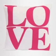 Love ,pink and white, διακοσμητικό μαξιλάρι