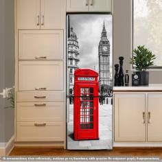 Red telephone box, αυτοκόλλητο ψυγείου 1 όψης