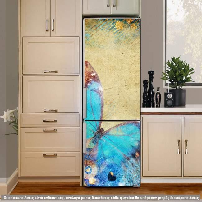 Butterfly 2, artistic, αυτοκόλλητο ψυγείου