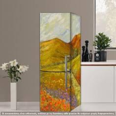 Ανοιξιάτικο τοπίο, αυτοκόλλητο ψυγείου