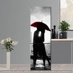 Sunset Kiss B&W&R, αυτοκόλλητο ψυγείου