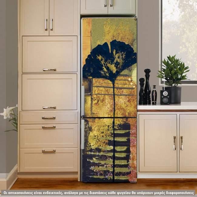 Abstract poppy, αυτοκόλλητο ψυγείου