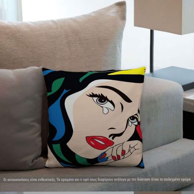 Wonder woman, διακοσμητικό μαξιλάρι pop art