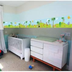 Μπορντούρα, αυτοκόλλητο τοίχου, Ζωάκια της ξηράς