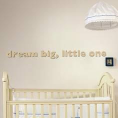 dream big, little one, ξύλινα διακοσμητικά γράμματα