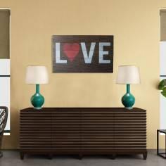 L♥VE, πινακίδα ξύλινη διακοσμητική