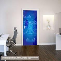 The Vitruvian man (Blueprint), αυτοκόλλητο πόρτας