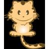Αυτοκόλλητα τοίχου παιδικά, Χαριτωμένη Γάτα