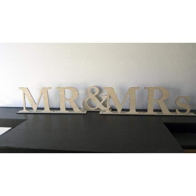 Mr and Mrs , ξύλινη διακοσμητική πινακίδα