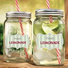 Fresh lemonade,10άδα ,αυτοκόλλητες ετικέτες για βαζάκια,μπομπονιέρες,μπουκάλια με το κείμενο που θέλετε