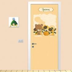 Αυτοκόλλητο πόρτας, Χαριτωμένο αρκουδάκι παιδικό