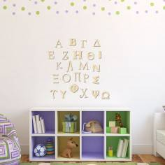 Αλφάβητο ελληνικό, ξύλινα κεφαλαία γράμματα, μεγάλες διαστάσεις