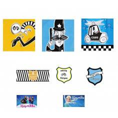 Ειδική παραγγελία Police theme αυτοκόλλητα