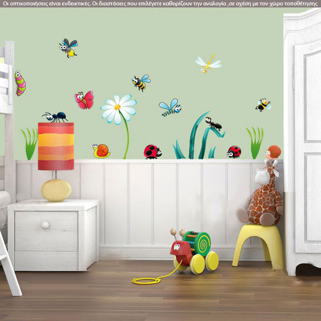 Bugs, παράσταση σε αυτοκόλλητα τοίχου